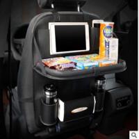 车座靠背上的挂钩汽车座椅收纳袋后背挂袋储物袋车用带折叠餐盘水杯架置物袋特价