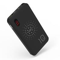 BaaN 数显适用iphoneX无线充移动电源四合一自带线10000豪安充电宝