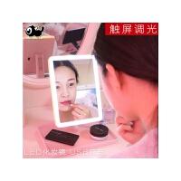 镜子化妆镜带灯LED化妆镜子补光台式欧式大号宿舍桌面梳妆公主镜