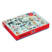 Hot Dogs A-Z 1000 Piece Puzzle 英文原版 1000块拼图:认识不同的狗狗 儿童启蒙益智玩具