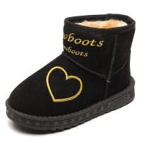 儿童雪地靴男女童保暖软底防水加绒百搭短靴2018冬季新款加棉童鞋
