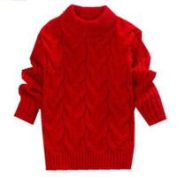 秋冬加厚针织毛衣女童打底衫保暖套头高领男童毛衣长袖针