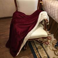 宝诗顿羊羔绒毛毯加厚单宿舍学生冬季双层珊瑚绒午睡空调毯床单冬用被子