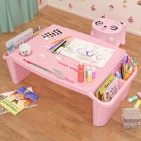 【限时7折】宝宝塑料床上小书桌幼儿学生写字学习桌儿童多功能玩具吃饭小桌子