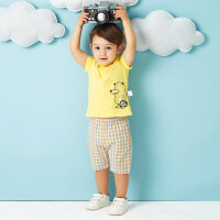 【2件2.5折到手价:76.25】美特斯邦威旗下Moomoo儿童套装短袖POLO衫休闲短裤夏季新款男宝宝两件套
