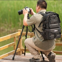 佳能相机包单反双肩背包700D/80D/6D照相机大容量摄影包