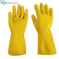 手套劳保批发 乳胶加厚家务防水洗碗牛筋耐磨塑胶家用厨房橡胶