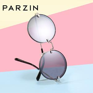 帕森2018新品太阳镜 女士复古金属圆框炫彩膜尼龙镜片潮墨镜 7730