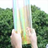 炫彩玻璃贴膜 幻彩膜彩色变色膜镭射膜纸防爆装饰贴纸窗户彩虹膜