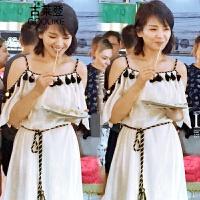 新品欢乐颂2刘涛安迪同款衣服雪纺连衣裙一字肩吊带裙沙滩裙长裙时尚潮流