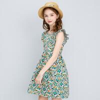 【3件1.5折价:66】笛莎女童连衣裙2021夏季新款女童洋气时尚棉布连衣裙