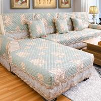 沙发垫欧式布艺四季通用防滑坐垫子现代简约全包沙发套巾罩盖