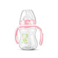 新生儿PP奶瓶180ml 硅胶奶嘴宽口径手柄弧形5uv