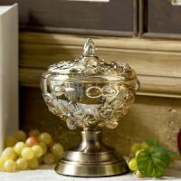 家用欧式糖果罐玻璃罐子储物罐摆件糖罐密封罐带盖收纳罐水晶罐