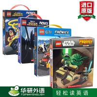 乐高城市DC超级英雄星球大战系列自然拼读 48册盒装 英文原版绘本 Scholastic Lego City DC S