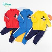 【2件3.5折到手价:112】迪士尼Disney童装 男童运动卫衣套装春季撞色拼接上衣纯棉透气裤子2件套迪斯尼宝宝