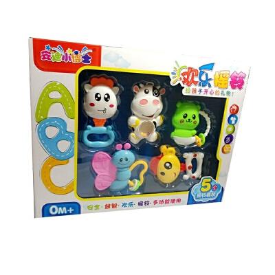 维莱 新生儿益智婴儿玩具摇铃 手摇铃 宝宝儿童玩具0-1岁礼盒套装 5件套