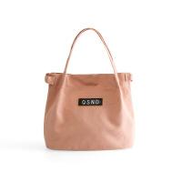 新款帆布手提袋小号手拎便当包女韩版清新手提饭盒袋子妈咪小布包Cn