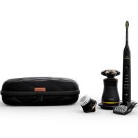 飞利浦(PHILIPS)S8880 男士护理套装含三刀头剃须刀 电动牙刷 全身水洗 黑色