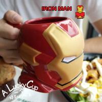 美国漫威钢铁侠个性带勺马克杯陶瓷咖啡杯动漫周边水杯送男友礼物