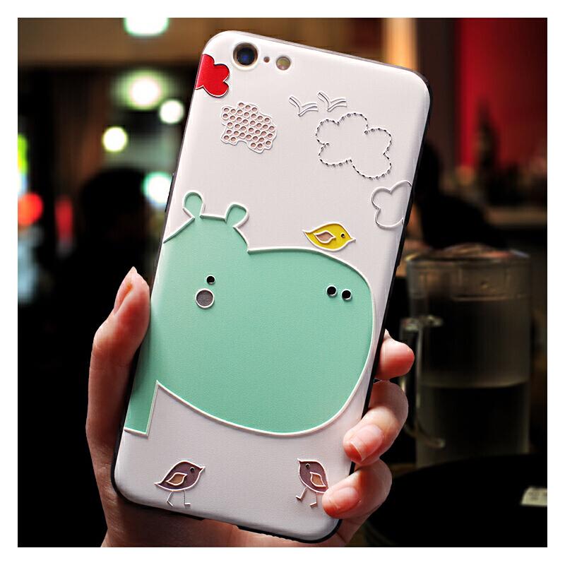 苹果6手机壳7plus软硅胶全包男女款iphone8新款个性创意6splus套防摔韩国卡通可爱8pl