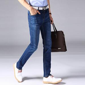1号牛仔男士时尚新款休闲牛仔裤韩版修身直筒牛仔长裤009