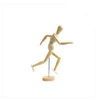 4.5英寸11.4cm实木漫画工具木人模型木偶人木头关节人偶素描模特