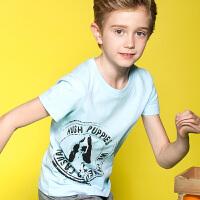 【儿童节大促-快抢券】暇步士童装男童短袖T恤新款大中童半袖夏装儿童圆领衫t恤衫