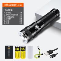 变焦强光手电筒可充电超亮多功能26650远射户外小便携灯5000