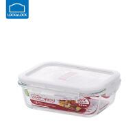 乐扣乐扣保鲜盒耐热玻璃饭盒微波炉烤箱可用密封碗便当碗冰箱储物 长【630ml】