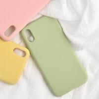ins小众手机壳iphonex液态硅胶苹果x全包防摔保护套xmax超火的抹茶绿8x女网红新款s个性外 XS MAX 6