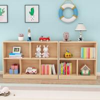儿童书架实木窗下宝宝玩具架自由组合小书柜落地学生收纳儿童书柜