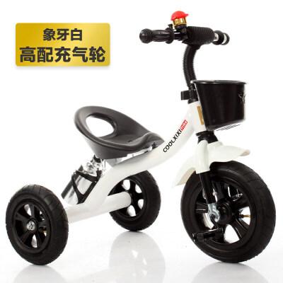 儿童三轮车童车宝宝脚踏车婴儿玩具车充气轮1-2-3-4岁自行车