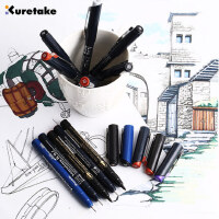 日本kuretake吴竹针管笔 黑色棕色 防水勾线笔 水彩漫画勾边笔