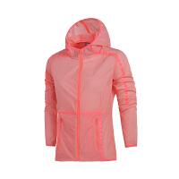 李宁女子运动风衣女士连帽春夏季长袖跑步系列薄款轻质休闲外套上衣女款AFDM064