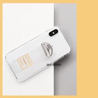 潮牌腕带苹果x手机壳iphone7plus/xr/xs max防摔透明全包6s/8女款 6/6s 黄字母