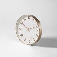 创意家居钟表现代简约客厅北欧艺术家用静音大气石英挂钟