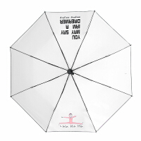 卡通个性折叠雨伞女晴雨两用小清新太阳伞女神学生防晒伞原宿森系 白色 (图案在内)