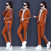 韩版宽松卫衣三件套女运动套装潮女时尚休闲套装