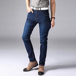 1号牛仔时尚男士商务休闲牛仔裤修身直筒韩版男长裤636