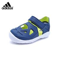 阿迪达斯Adidas童鞋18新款凉鞋男女童夏季儿童时尚拼色休闲鞋 (5-10岁可选) CQ0082
