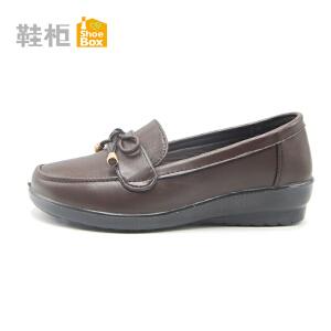 达芙妮集团 鞋柜正品秋季新款舒适套脚妈妈鞋女鞋