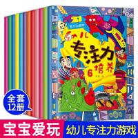 智力大挑战幼儿专注力全套12册 3-4-5-6岁幼儿童智力全脑开发 宝宝记忆力注意力观察力