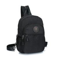 双肩包女帆布胸包两用背包单肩斜挎小包休闲旅游包时尚挎包潮包 黑色 3093