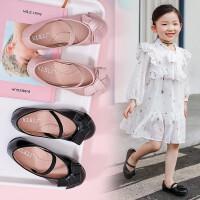儿童鞋子女童皮鞋2019春款新款秋季时尚小孩公主女孩学生软底单鞋花童鞋