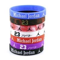 篮球球星手环 运动手环硅胶白色夜光手腕 球迷用品时尚手环