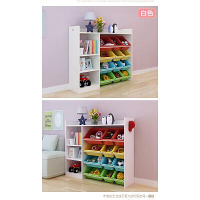 儿童书架玩具收纳架整理架置物架玩具收纳柜幼儿园储物柜超大容量o8j 超大容量 多功能带书柜 环保无味 送工具