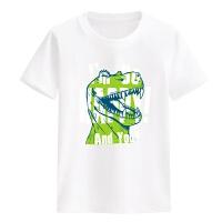 恐龙童装男童夏装新款2018夏季大童短袖儿童衣服宝宝圆领T恤 S 身高85-100cm
