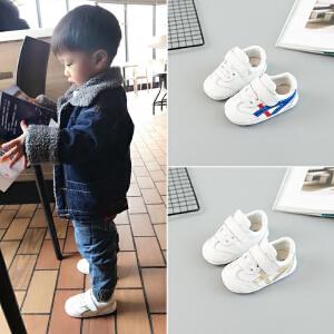 拥抱熊 2018春秋季新款运动小白鞋宝宝鞋子男1-3岁婴儿鞋女童软底学步  鞋