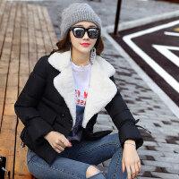 反季棉衣女短款韩版修身羽绒加厚冬装外套学生棉袄